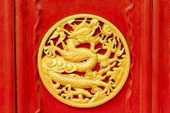 Stock Photo of imperial dragons in forbidden city, shenyang china