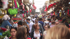 Tel-Aviv market on a busy day Stock Footage