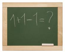 equation - stock photo