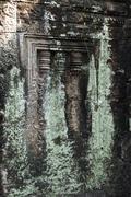 Detail of window, preah khan, cambodia Stock Photos