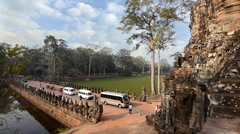 Cambodia, angkor wat, west gate Stock Footage