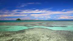 Tropical bay with coral reef Stock Footage
