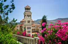 Stock Photo of Church Agios Nectarios on island Aegina, Greece