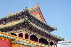 Stock Photo of shenyang beijing imperial palace forbidden city china