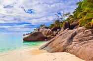 Stock Photo of Beach Anse Lazio at Seychelles