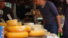 Cheese market Stock Footage