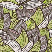 abstract background of petal and wave - stock illustration