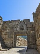 Lion Gate at Mycenae, Greece Stock Photos