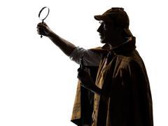 Sherlock holmes silhouette Stock Photos
