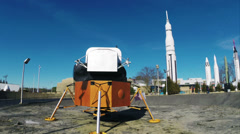 Huntsville Alabama Lunar Lander Module Moon Shot HD Stock Footage