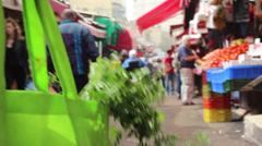Shopping in a market Stock Footage