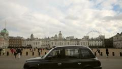 Busy horse guards parade building Stock Footage
