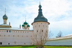 Russia, kremlin, old, rostov, history, dome, church, architecture, places, cu Stock Photos