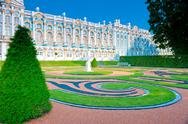 Stock Photo of postcard view of catherine's palace in pushkin suburb