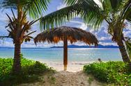 Beach at tropical island Stock Photos