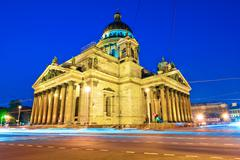 landmark of st. petersburg, st. isaac's cathedral - stock photo
