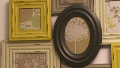 Pan to picture frames Stock Footage