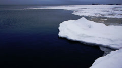 Floating of ice, Onego lake Stock Footage