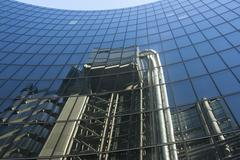 Architectural Reflections of Lloyds Building Design - stock photo