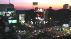 Brigade Road intersection shopping street, Bangalore, India Stock Footage