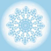 Abstract blue lace doily Stock Illustration
