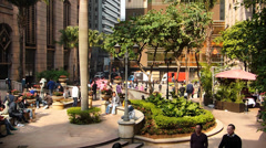 Having a break in the sun Hong Kong Central district China Asia - stock footage