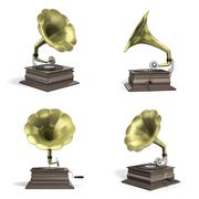 Gramophone icons Stock Illustration