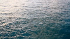 Sea water passing view from a moving boat Stock Footage