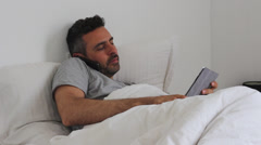 Modern work requierments of working even from bed Stock Footage