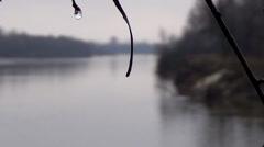 Ukraine, the river Desna Stock Footage