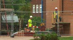 Builders on Construction Site - stock footage