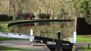 Stock Video Footage of Couple Walking Along the Staffordshire and Worcestershire Canal England UK
