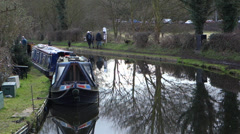 Staffordshire and Worcestershire Canal Stourton West Midlands England UK Stock Footage