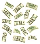 Falling money Stock Photos