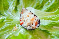 mussels in vinaigrette - stock photo