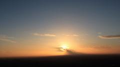 Sunset on flat horizon Stock Footage