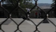 Skateboarder - 360 Kickflip Stock Footage