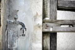 Frozen faucet Stock Photos