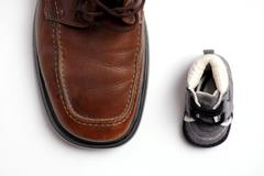 contrast shoes - stock photo
