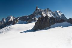 Mont Blanc - Dent du Geant Stock Photos