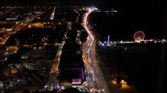 Blackpool illuminations time lapse Stock Footage