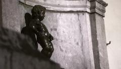 Fountain Manneken Pis Stock Footage