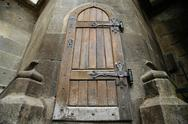Stock Photo of old wooden door