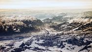 Stock Photo of aerial of swiss alps in winter