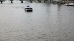 Public transport on thames water Stock Footage
