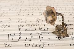 Gramophone on vanha nuotit Kuvituskuvat