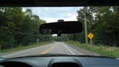 Rural Ontario drive. Stock Footage
