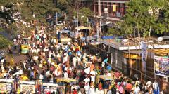 K.R. Flower Market, Bangalore, India, Asia Stock Footage