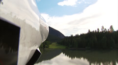 Plane POV Landing Grass Strip Stock Footage