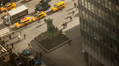 New York crowd timelapse - stock footage